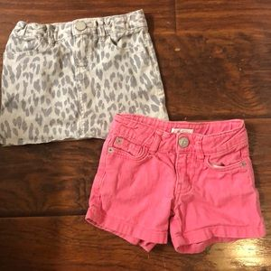 2 pc lot GAP skirt Children's place pink shorts 4